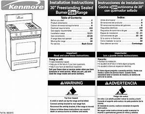 Kenmore 66575775890 User Manual Gas Range Manuals And