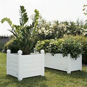 Bac à Fleurs : bac fleurs rectangle chambord blanc 95 x 33 x 33 cm 19 490 4 04 achat vente bac fleur ~ Teatrodelosmanantiales.com Idées de Décoration