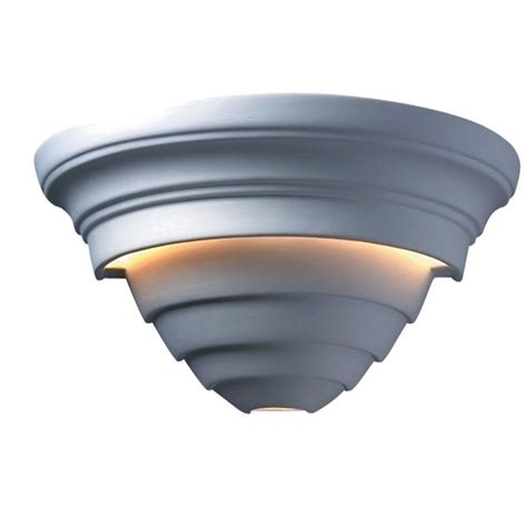 paintable wall sconce filament design leonidas 2 light paintable ceramic bisque