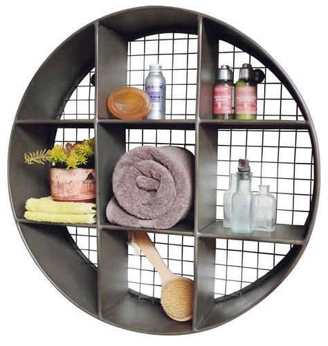 Small Storage Shelf Unit by Turn Storage Into Wall Industrial Style Wall Display