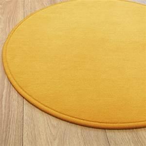 tapis rond sur mesure jaune par vorwerk gamme santina With tapis rond jaune