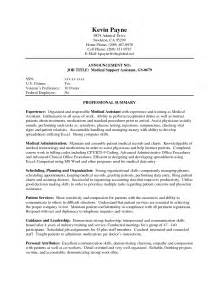 experienced healthcare professional resume resume exles for assistant with no experience sle in assistant cover