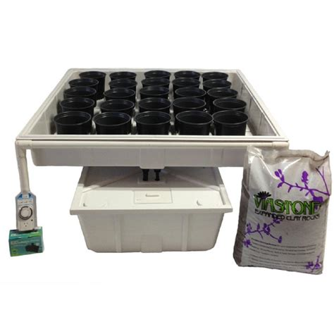 grow ls home depot viagrow 4 ft x 4 ft ebb and flow hydroponics system