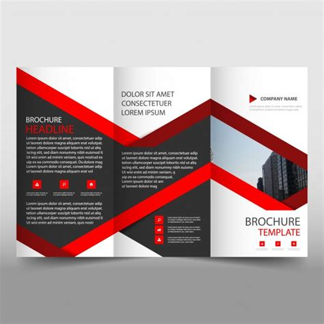 Folding Brochure Template Creative Trifold Business Brochure Template Vector