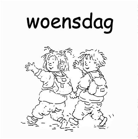 Kleurplaat Ik Ga Naar De Basisschool by Dagen De Week