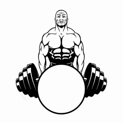 Weight Lifter Silhouette Bodybuilding Weightlifting Sports 9cm