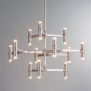Lighting chandeliers contemporary : Modern bamboo inspired chandelier lighting