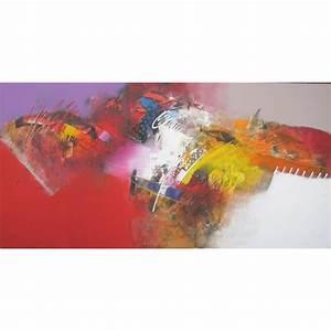 Tableau Contemporain Grand Format : tableau design colore grand format xl horizontal 180x90 cm ~ Teatrodelosmanantiales.com Idées de Décoration