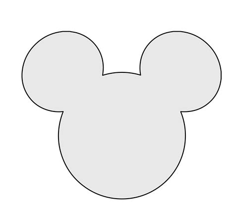Mickey Mouse Shape Template by 5 H String Mickey Mouse Pattern Template