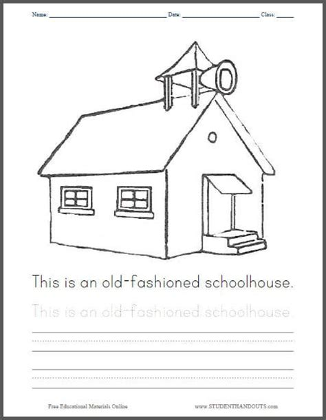 school house coloring pages  fashioned schoolhouse coloring page classroom kindergarten