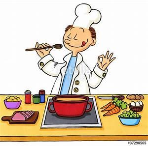 QuotCartoon Koch Beim Kochenquot Stockfotos Und Lizenzfreie