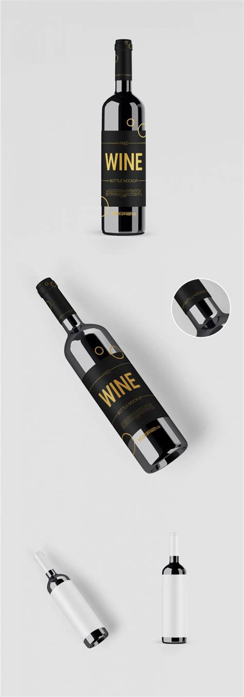 How often do you consider product mockups as the most suitable means of showcasing your design advanced, easy to edit wine bottle mockup. Free Dark Wine Bottle Mockups | Mockuptree
