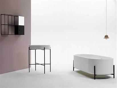 Bathroom Minimalist Ex Norm Architects Fixtures Stand