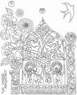 Coloring Explosion Pages Folk Cookie Adult Mexican Sheets Architect Swiss Books Designlooter Drawings Sun 81kb Drawing Template sketch template