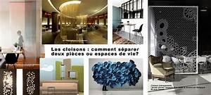 Cloison Séparation Pièce : les cloisons comment s parer deux pi ces ou espaces de ~ Premium-room.com Idées de Décoration