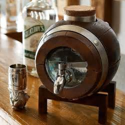 Breakfast Bar Chairs by Whiskey Barrel Drink Dispenser Decanter So That S Cool