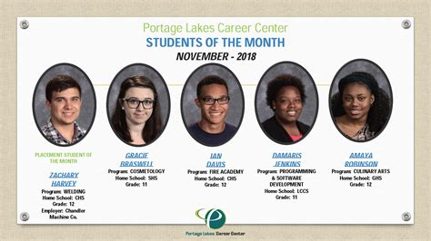 students   month portage lakes career center