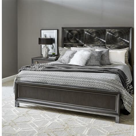Contemporary Black Nickel California King Bed Radiance