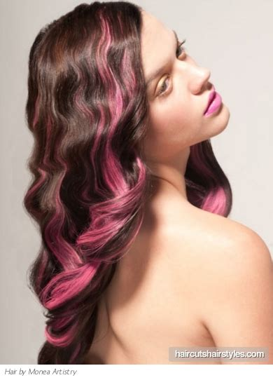 With Pink Highlights Hairstyles by Hair With Pink Highlights