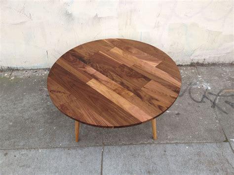 Article walnut coffee table marble. Mid Century Round Walnut Cocktail Coffee Table | Mid ...