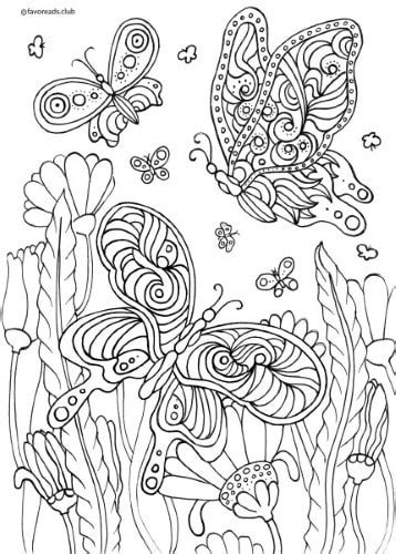 animals  birds butterflies  flowers printable adult coloring pages  favoreads
