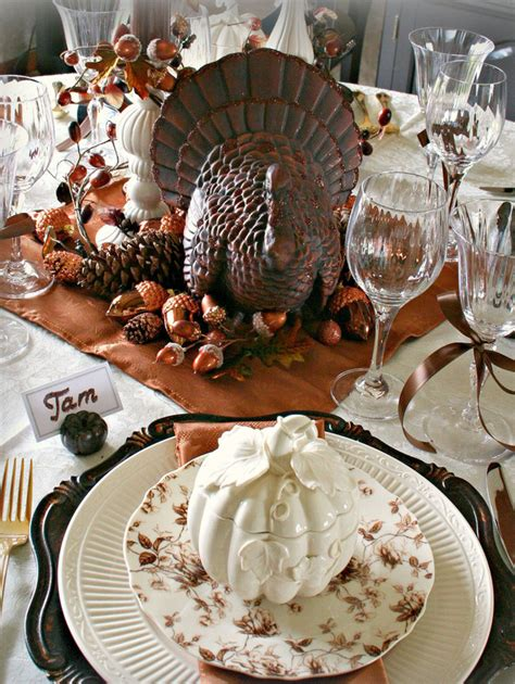 thanksgiving table setting cool turkey decorations for your thanksgiving table digsdigs