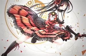 Tokisaki, Kurumi, Anime, Girls, Anime, Gun, Artwork, Date, A, Live, Wallpapers, Hd, Desktop, And