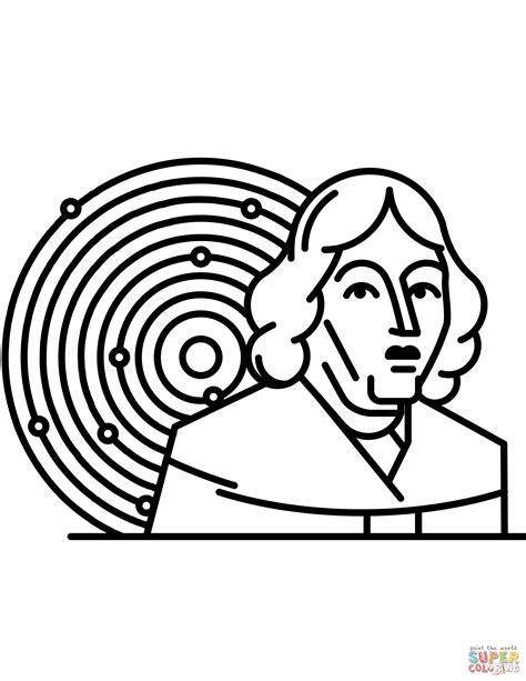 Copernicus And Solar System Coloring Page Free Printable