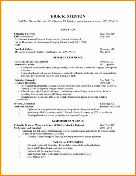 Cv Application Template by 10 Cv Format Sle For Students Theorynpractice