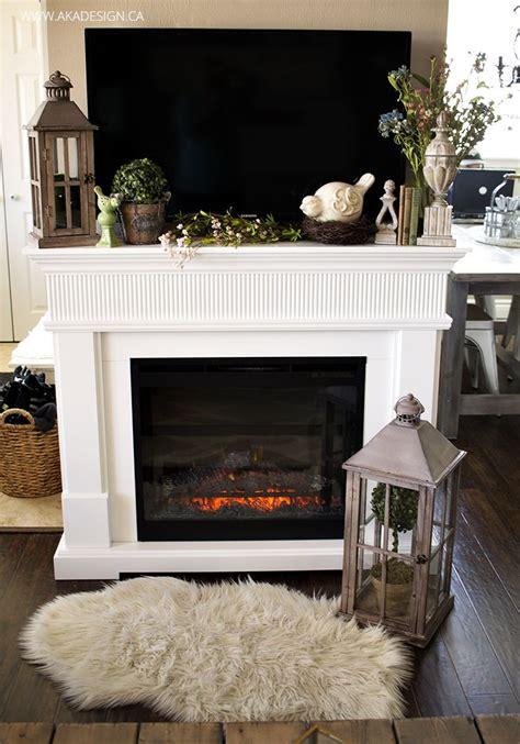 mantle decorating ideas  pinterest fire place