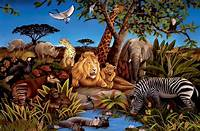trending jungle wall mural New XL JUNGLE ANIMALS WALLPAPER MURAL Kids Bedroom Animal Decor Room Decorations | eBay