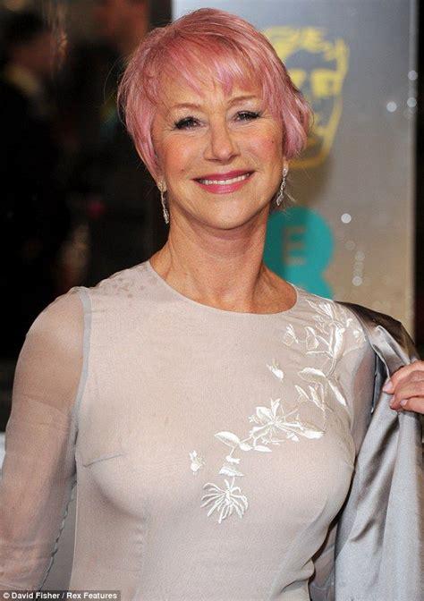 Tickled Pink Dame Helen Mirren Shocks On The Baftas Red