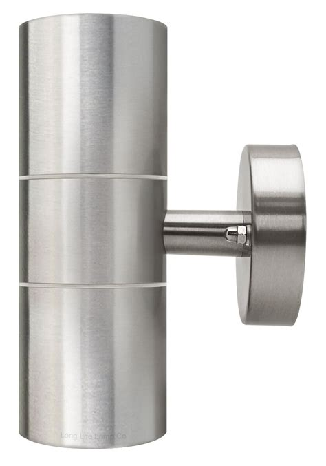 stainless steel up down wall light gu10 ip65 double outdoor wall light zlc03 5060233374496 ebay