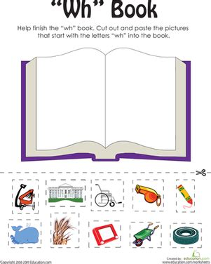 wh words  word family book worksheet educationcom