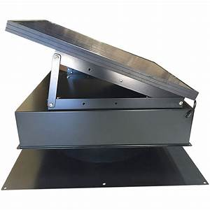 Remington Solar Attic Fan 25 Watt Gray  Weathered Wood