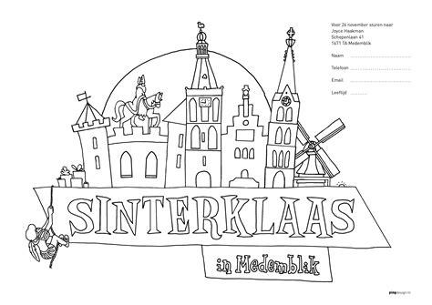Kleurplaat Sinterklaas 2016 Afdrukken by Prijswinnaars Sinterklaaskleurwedstrijd Medemblik Actueel
