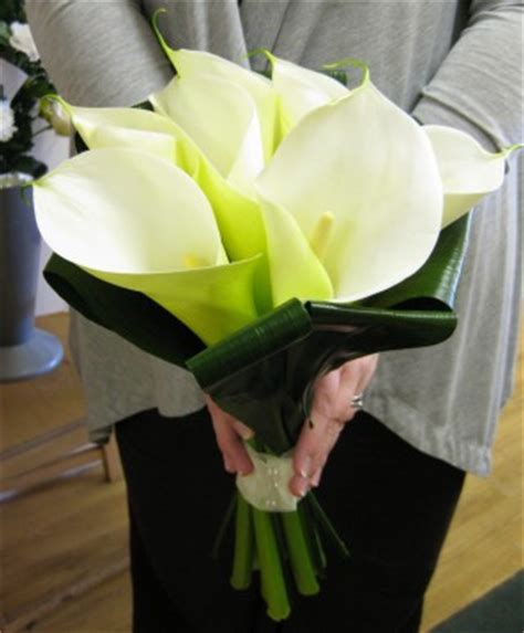 acklam flowers weddings arum lily bouquet