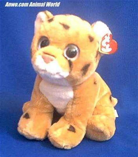 cheetah stuffed animal plush ty serengeti  anwocom