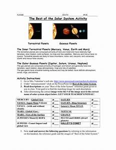 Solar System Labeling Worksheet