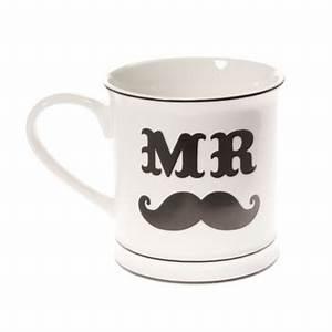 Tasse Mr Mrs : dekofieber online shop tasse mr moustache ~ Teatrodelosmanantiales.com Idées de Décoration