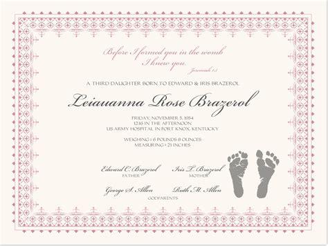 birth certificate  baby footprints baby certificate