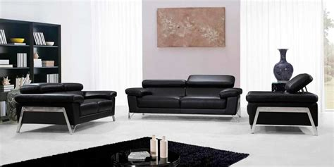 leather sofa sets modern black leather sofa set vg724 leather sofas Contemporary