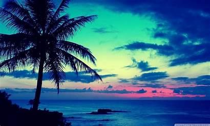Tropical Sunrise Wallpapers Hawaii Sunset Beach Wide