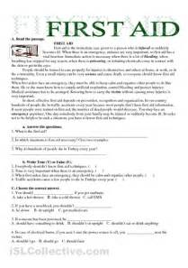 Printable First Aid Worksheets