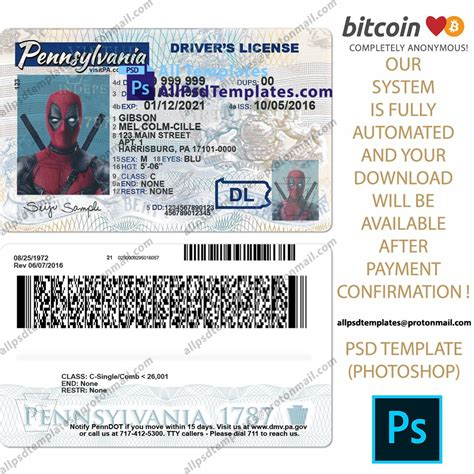 Change your address in person at the dmv you can also update your address at any driver licensing office. Pennsylvania Driver License Template in 2020 | Templates ...