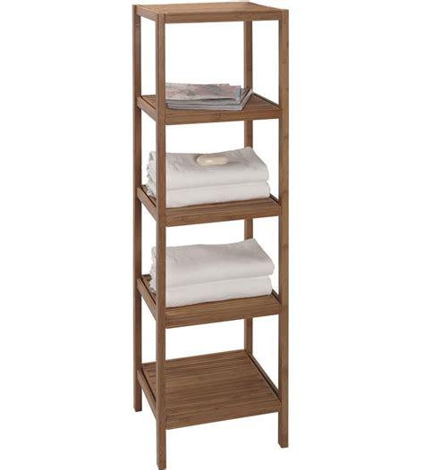 bamboo shelving unit  bathroom shelves