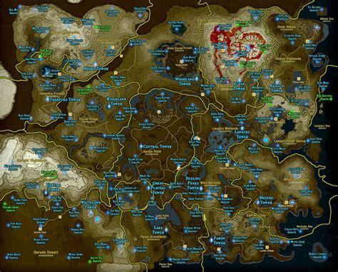 zelda breath   wild shrine maps  locations polygon