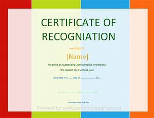 certificate of recognition save word templates With template for certificate of appreciation in microsoft word