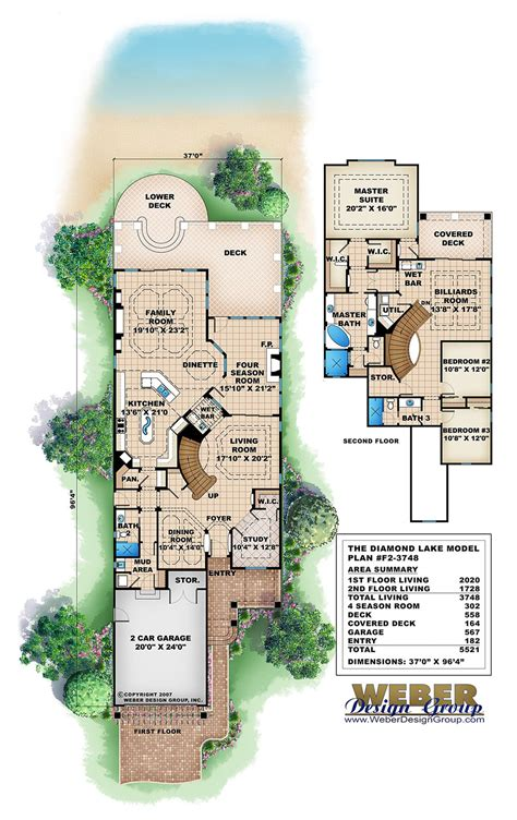 diamond lake house plan weber design group