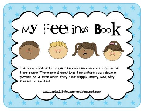 lanie s learners preschool feelings theme 428 | MyFeelingsActivityBookLaniesLittleLearners